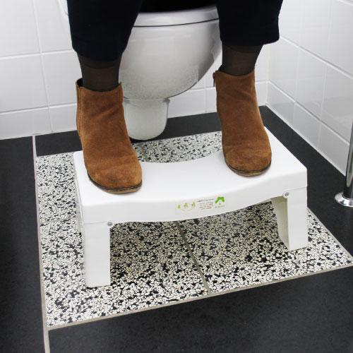 gebruik inklapbaar toiletkrukje