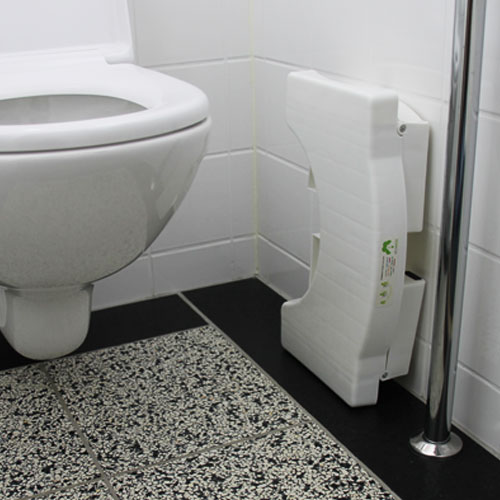ingeklapt toiletkrukje