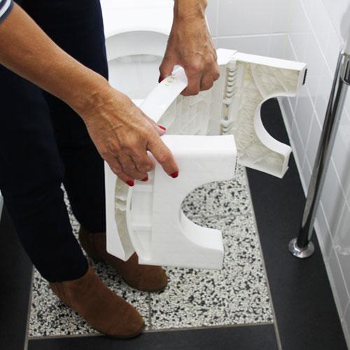 inklapbaar opstapje toilet